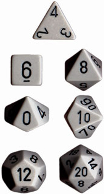 Opaque Polyhedral Dark Grey/black 7-Die Set