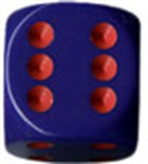 Opaque 16mm d6 Purple/red Dice Block (12 dice)