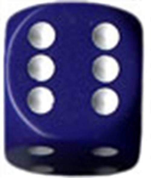 Opaque 16mm d6 Purple/white Dice Block (12 dice)