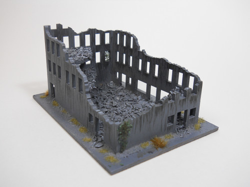 Ruined City Building (Wood) - 15MMDF261