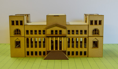15mm WWII Government Building - Removable Top Floor (MDF) - 15MMDF350-3