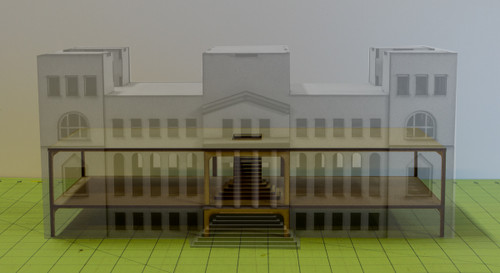 15mm WWII Government Building - Floor and Stairs Kit - 15MMDF350-4