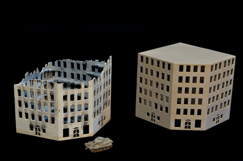 6mm European Corner Building and Ruined Version - 285CSS016