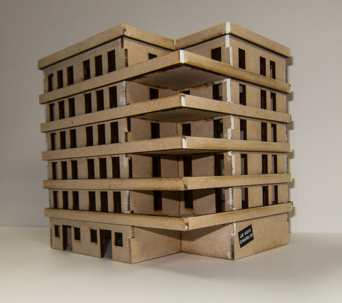 15mm Large Apartment Block (MDF) - 15MMDF152