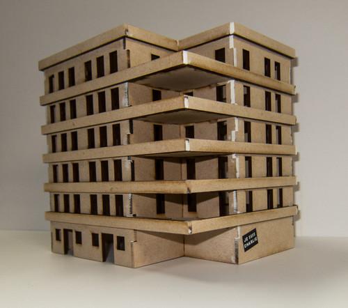 15mm Large Apartment Block (MDF) - 15MMDF152