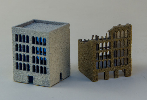 3mm 5 Story Building (Ruined and Non-Ruined) - 3MMCSS005