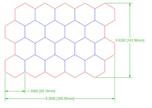 """Hex Bases, """"Block of 20"""" - (1.5"""")"""