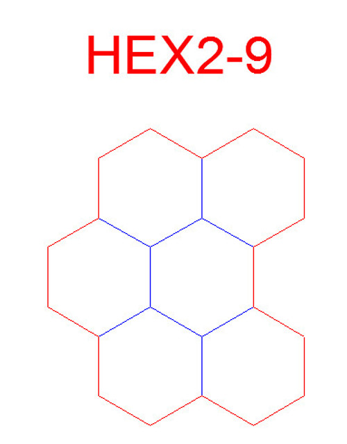 "Hex Bases, Array of Six Hex - (2"")"