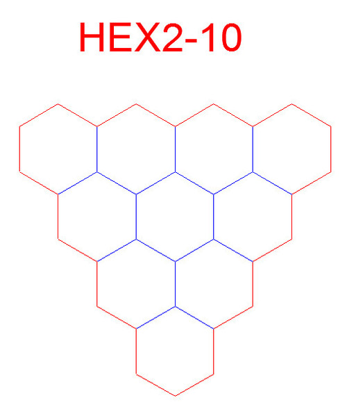 "Hex Bases, Array of Ten Hex - (2"")"