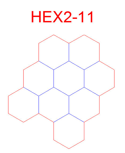 "Hex Bases, Array of Nine Hex - (2"")"