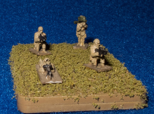 6mm (1/285th) Micro Armor Infantry Base - 285AAG001