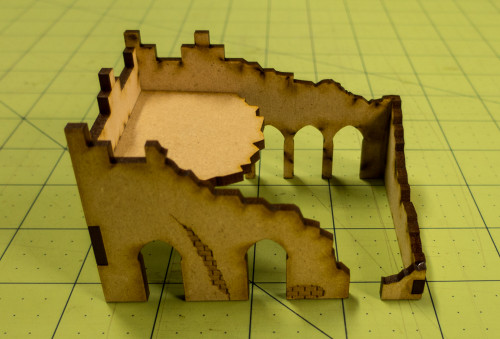 Middle East One Story Building (MDF) - 15MMDF012-D