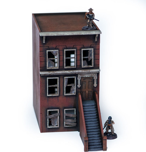 "28mm ""Brownstone"" Row House (MDF) - 28MMDF401"