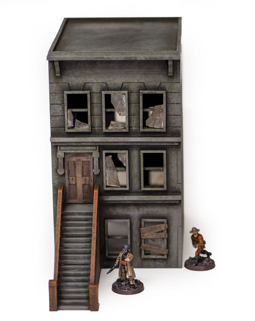 "28mm ""Brownstone"" Row House (MDF) - 28MMDF402"