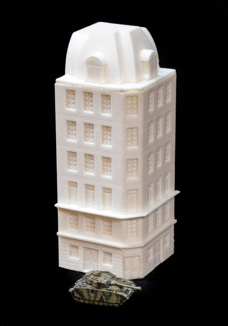 Corner Building (Resin) - 285BLK003