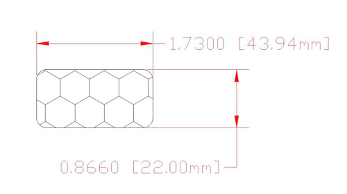 44mm x 22mm Base