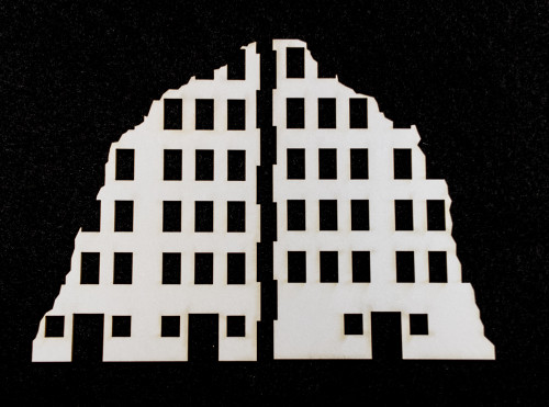 10mm Ruined City Building (Matboard) - 10MCSS001