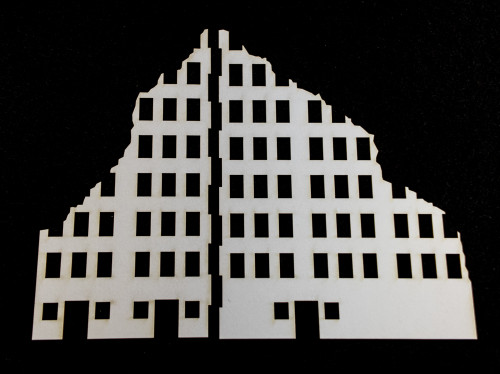 10mm Ruined City Building (Matboard) - 10MCSS002