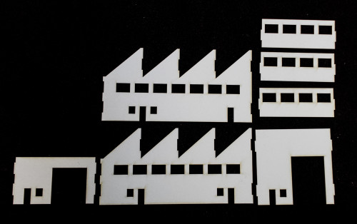 10mm Factory Building (Matboard) - 10MCSS005
