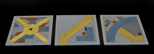 City Tiles, set of 3 (MDF) - 10MTILE006