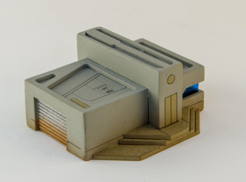 10mm Sci-Fi Future World Garage/Shop Building (Matboard) - 10MCSS252-7