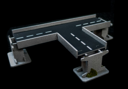 3 Way Intersection Roadway Section, 2 Lane - 10MROAD155-1