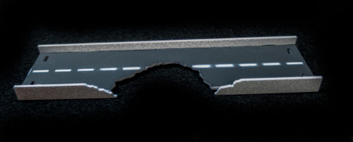 "10"" Straight Roadway Section, Bombed, 2 Lane - 10MROAD160-1"