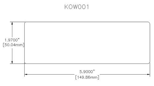 Large Cav Base 50mm x 150mm