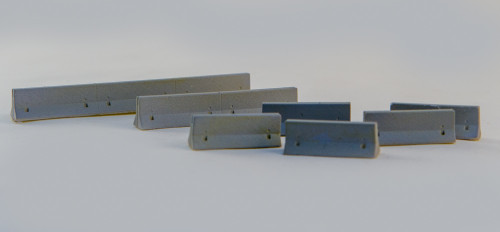 10mm K-Rails (AKA Jersey Barriers) (Resin) - 10MSCE001
