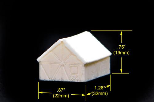 Small one story split timber house (Resin) - 285TAV003