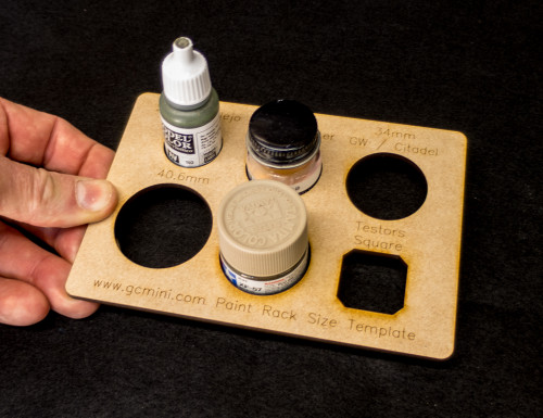 Paint Rack Size Template