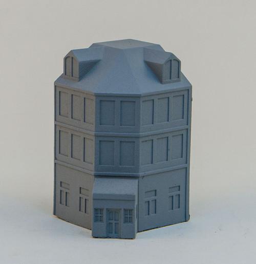 6mm Town Building, Corner - 285MEV113