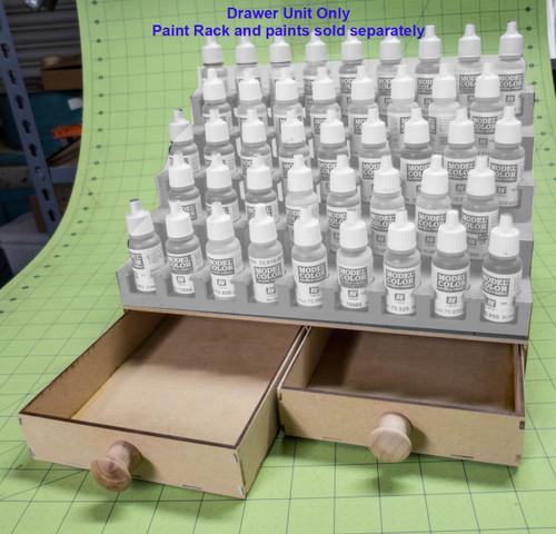 Drawer Add-On For Paint Rack - Double Drawer