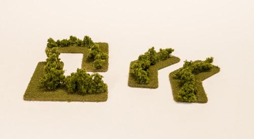 Hedge Row Corners (4 pcs) - 285HEDG03