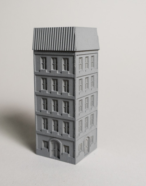 6mm European City Corner Building - 285MEV0144