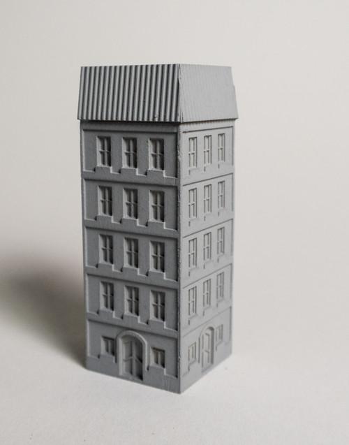6mm European City Corner Building - 285MEV0144