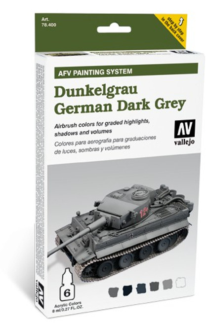 Model Air Set: AFV System: German Dark Grey (6) (8 ml)
