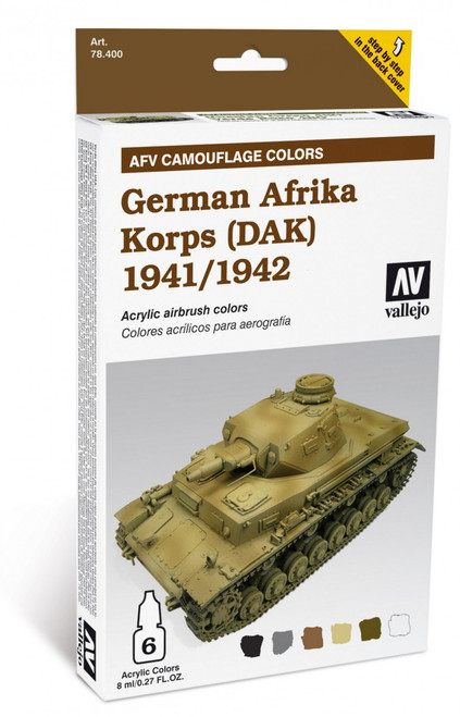 Model Air Set: AFV System Camouflage Colors German Afrika Korps (DAK) 1941-1942
