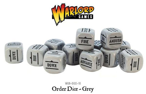 Bolt Action: Orders Dice Packs - Grey