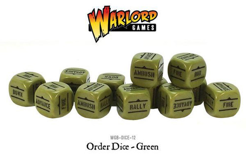 Bolt Action: Orders Dice Packs - Green