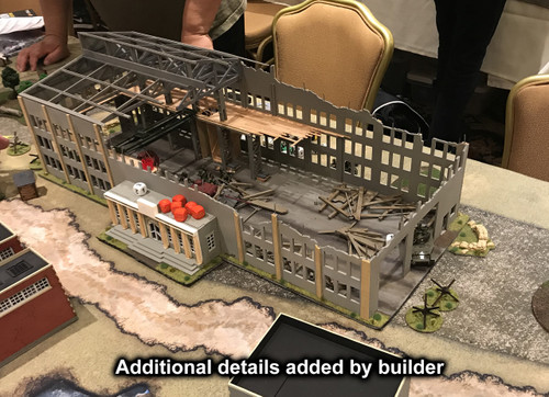 28mm Ruined Tank Factory - 28MMDF170