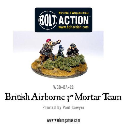 Bolt Action: British Para 3 Inch Mortar and Crew