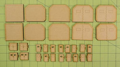 Lots Of 15mm Sci-Fi  Doors - 15MTW054