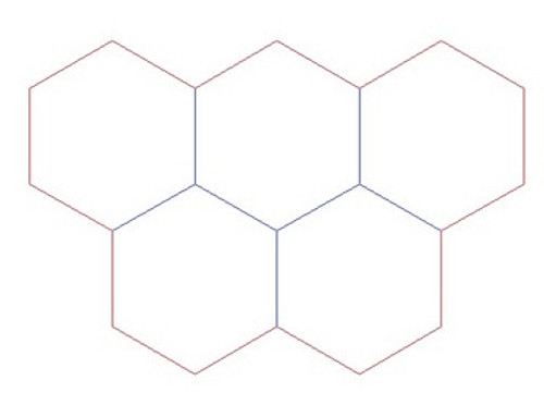 """Hex Bases, Five Hex Base - (1.5"""") HEX150-15"""
