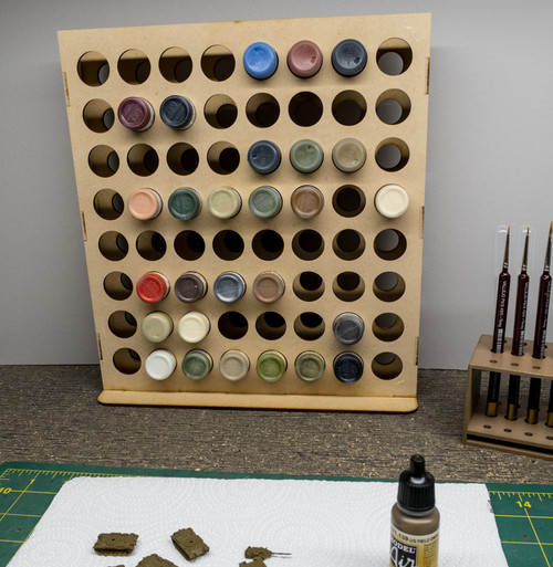 Vertical Paint Rack - 26mm, For Vallejo and Army Painter Style Dropper Bottles