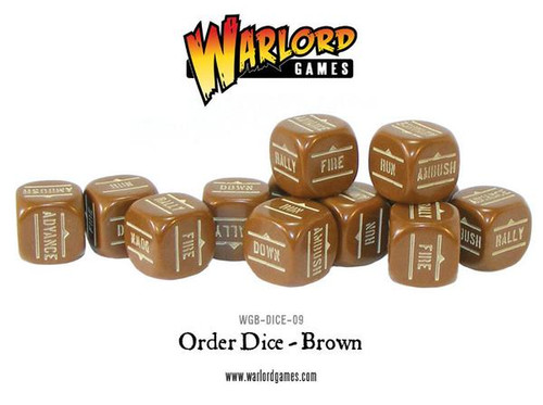 Bolt Action: Orders Dice Packs - Brown