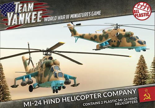 Team Yankee:  Mi-24 Hind Helicopter Company (Plastic)