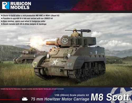 M8 Scott / M5A1 Stuart (1:56th scale / 28mm)