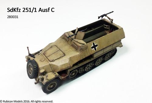 SdKfz 251/1 Ausf C (aka 251C) (1:56th scale / 28mm)