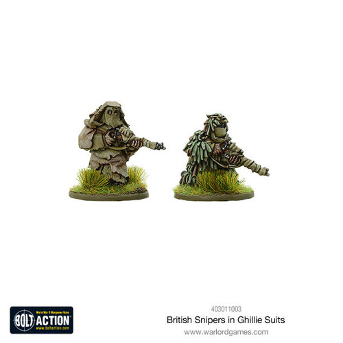 Bolt Action: British Snipers in Ghillie suits